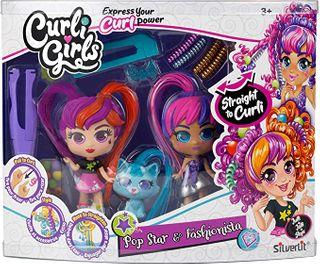 Curli Girls Doll and Pet Twin Set