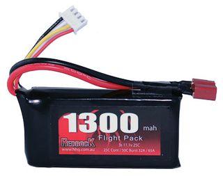 Redback Battery 11.1V Lipo 1300Mah 30CFlight