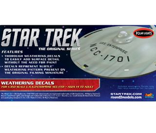Star Trek USS Enter. Weather Dcls 1:350