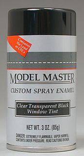 TRANSP BLACK WINDOW TINT Enam 85gm SPRAY