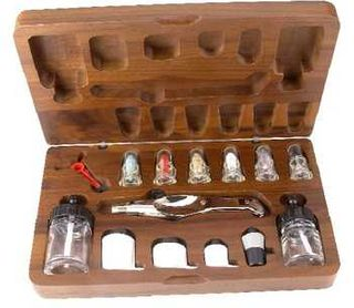 Aztek Metal Airbrush Set/Wood Case