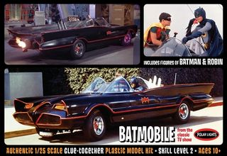 Polar Lights 1:25 1966 Tv Batmobile W/*Datm