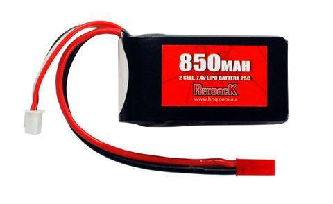 Redback Battery 7.4V Lipo 850Mah 25CFlight