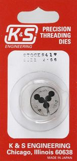KS Metals Die Thread Cutting.2-56 1 Pc.In Outer