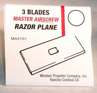Master Airscrew Razor Plane ReplacementBlades 3/Pk