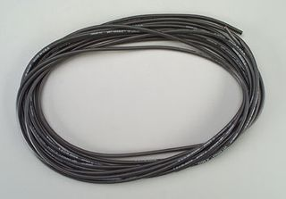 WIRE,'WET NOODLE'12G SILICONE,BLACK  25'