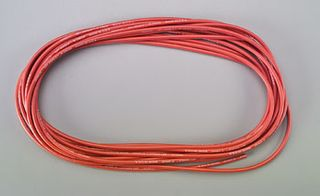 WIRE,'WET NOODLE'12G SILICONE,RED  25'