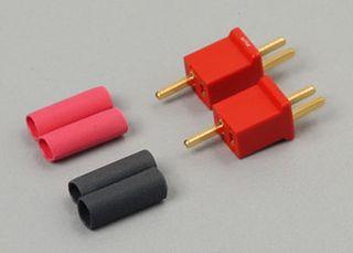 MICRO PLUG 2R RED 2 PIN POLARIZED *