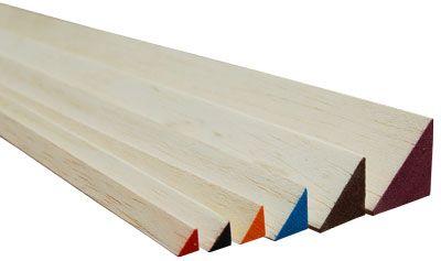 Balsawood Triangle Balsa 6.5X6.5X1200MmRed