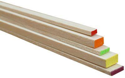Balsawood Rectangle Balsa 915X6.5X9Mm Orange
