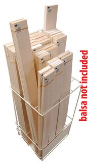 Balsawood Balsa Stand Beige W/Out Merchandise