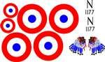 Balsa Usa Decal Set 1/4 Scale Nieuport