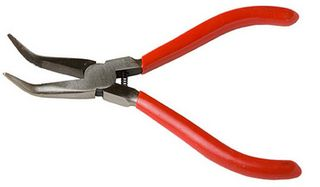 CURVED NOSE PLIER 5in SPRING LOAD *