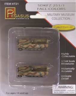 Pegasus 1/144 Sd.Kfz.251/1 Fall ColoursPainted