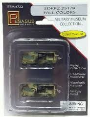 Pegasus 1/144 1/2 Track German Fall Col. 2Pcs