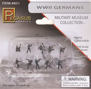Pegasus 1/144 Ww Ii German Soldiers (10)Painted