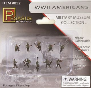 1/144 WW II AMERICAN S/DIERS(10) PAINTED