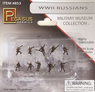 1/144 WW II RUSSIAN S/DIERS(10) PAINTED