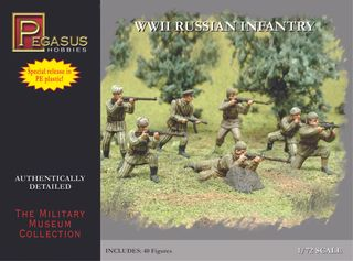 Pegasus Wwii Russian Infantry Combo 40Pc  1:72