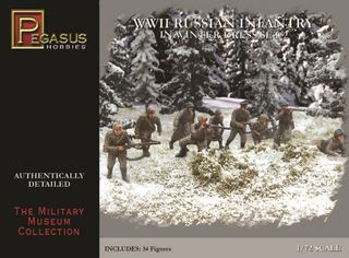 Pegasus Wwii Russian Infantry/Winter 34Pcs Set 2