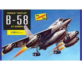 Lindberg 1/128 B-58 Hustler Bomber*D