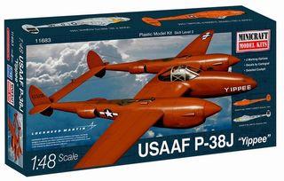 Minicraft 1/48 P-38J Usaf W/2 Markings