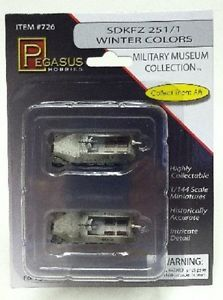 1/144 1/2 TRACK GERMAN, WINTER COL. 2PCS