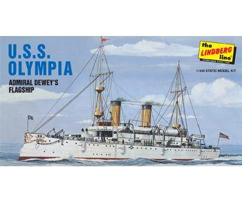 Lindberg 1/240 Uss Olympia Battleshi