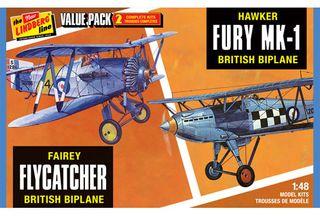 Lindberg Fairey Flycatcher & Hawker*