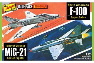 Lindberg 1/72 2 Pack Vietnam Era F-1 *