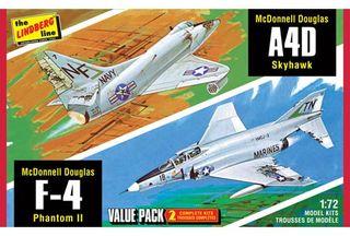 Lindberg 1/72 2 Pack Vietnam Era F-4 *