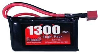 Redback Battery 7.4V Lipo 1300Mah 30CFlight
