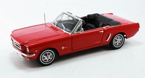 Welly 1:18 1964-1/2 Mustang Conv. Red