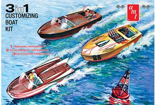 AMT 1:25 Customizing Boat (3-In-1)