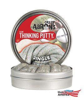 Crazy Aaron's Thinking Putty Ji020 Jingle Christmas 4 Tin