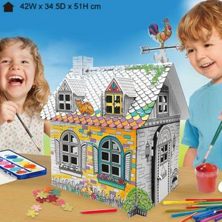 Funny Paper Furniture Mini Rural House Diy Colour & Play