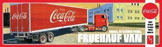 AMT 1:25 Fruehauf Beaded Van Semi (Cocacola)