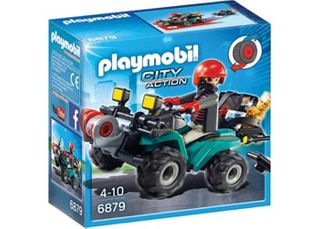PLAYMOBIL POLICE ROBBERS QUAD W LOOT