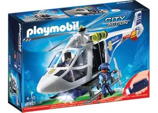 PLAYMOBIL POLICE HELICOPTER LED SEARCHLI