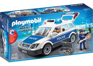 PLAYMOBIL POLICE CAR W LIGHTS AND SOUND