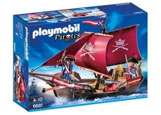 PLAYMOBIL PIRATE SOLDIERS' CANNON BOAT