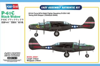 Hobbyboss 1:72 Us P-61C Black Widow