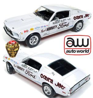 Autoworld 1:18 1968 Ford Mustang 2+2 Platt *