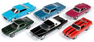 Johnny Lightning 1:64 B-Series Assortment (Incl.6 Cars)