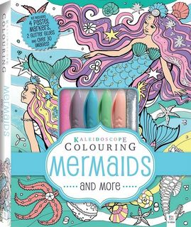KALEIDOSCOPE COLOURING PASTEL MERMAIDS