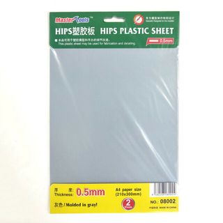 Master Tools 0.5mm Hips Plastic Sheet A4Size