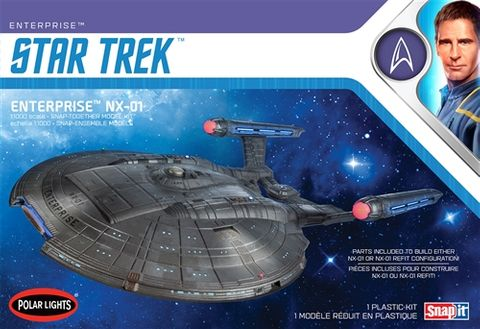 Polar Lights 1:1000 Star Trek Nx-01 Enterprise (Snap)