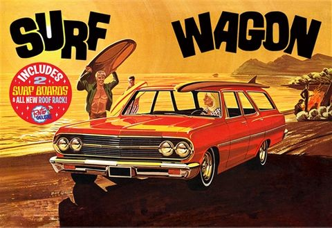 AMT 1:25 1965 Chevelle Surf Wagon