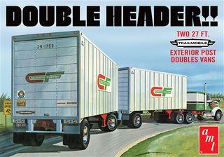 AMT 1:25 Double Header Tandem Van Trailers