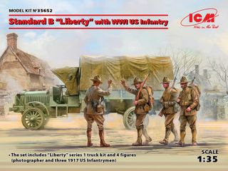 ICM 1:35 Standard Blibertyw/Wwi Us Inftry